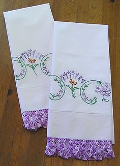 Learned to embroider pillow cases and handkerchiefs as a kid!  Had several in my Hope Chest when I got married.