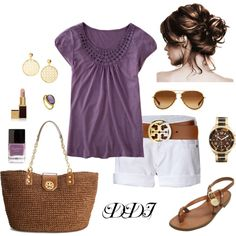 Purple and White Summer Day, created by dawndayiannelli on Polyvore