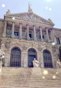 Biblioteca Nacional, Recoletos, Madrid, Spain