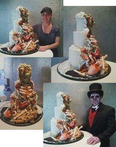 Amazing zombie wedding cake