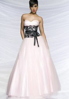 Tulle Sweetheart A line Empire Floor Length With Lace Prom Dress - Angeldress.co.uk