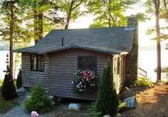 Maine Lake Cabin - what a great place to spend the summer!  Dreams, oh beautiful dreams!!