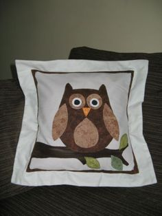 PATTERN-Patchwork Palace Designed Owl Cushion. available to buy for £4.50 including p&p
