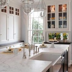 Kitchen Island Farmhouse Sink, Transitional, kitchen, Kitchens by Deane