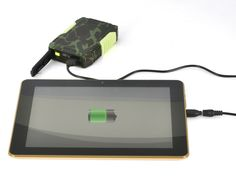 Juice up your devices on the go with ''Amps''....Rugged portable battery bank....