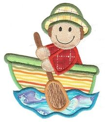 Boy In Boat - 2 Sizes! | Boats | Machine Embroidery Designs | SWAKembroidery.com Designs by Juju