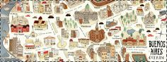 map of Buenos Aires by Camila Tubaro -Mi Buenos Aires Querido