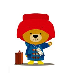 Paddington bear. Bear Clipart, Bear Vector, Paddington Bear Party, Bear Images, Bear Illustration, Bear Birthday, All Things Cute, Children's Literature, Plushies