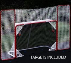 EZGoal Hockey Backstop Kit with Targets, Red/White #EZGoal