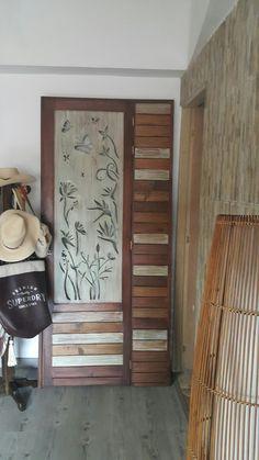 Puerta calada . paso  de alcoba a baño-vestier