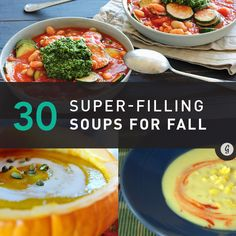 30 Filling Fall Soups #soups #fall #winter #pumpkin