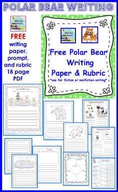 free polar bear writing printable