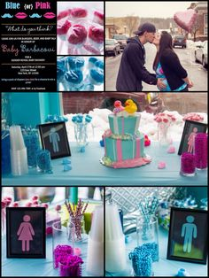 Blue or pink--what do you think?! Gender reveal baby shower