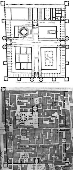 dismantling sites of power: the void remains / croatia: roman emperor diocletian's palace and the densely polulated city in 1912 (image from american urban architecture)
