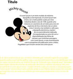 Texto e mickey