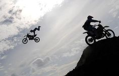 A rider becomes airborne at the Motocross Free Style display in Rio Hato, Panama...