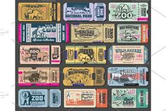 Zoo tickets for zoological park. Vector vintage admit ticket design of wild bear, wolf or duck and wolf, African safari lion, hippopotamus or elephant and buffalo, fox or grouse bird and elk Zoo Tickets, The Zoo, Zoo Park, Ticket Design, Bear Design, African Safari, Royalty Free Photos, Elephant, Grouse