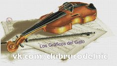 Precioso gráfico de un violín... Violin, Cross Stitch, Music Instruments, Gatos, Cross Stitch Art, Needlepoint, Musica, Punto De Cruz, Seed Stitch