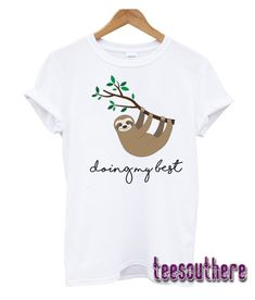Mens Funny Smile Travel Sloth Casual Sport Vest