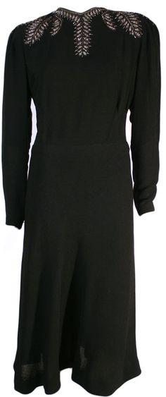 1940s Vintage Evening Gown at ballyhoovintage.com