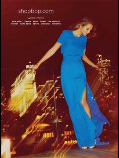 Blue maxi dress elegant