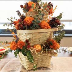 In preparation for the fall holidays, I was determined to create a centerpiece mainly using things I already had around my apartment. Now that it's officially f…