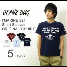 46a1432aba996 Rakuten  MARINE 89 JEANSBUG ORIGINAL PRINT T-SHIRT original Malin military  print short sleeves T-shirt navy Ikari anchor - Shopping Japanese products  from ...