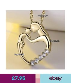 Fine Necklaces & Pendants Mother And Daughter Heart Gold Necklace Xmas Presents Gifts For Her Mum Mom S1 #ebay #Fashion