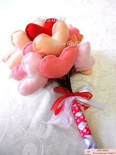 Bouquet Corações...uma fofurice