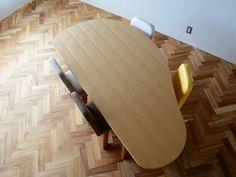 やさしい暮らし-SHUNO(シュノ)収納付き 変形ダイニングテーブル180 天板の形