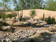 Backyard Desert Landscaping Ideas landscaping idea gallery tucson arizona Amazing Desert Landscaping Ideas With Small Plants Also Brown Smooth Sands Plus Rocks
