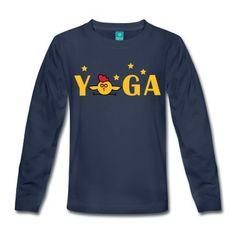 Yoga Kinder Premium Langarmshirt | Spreadshirt | ID: 28657645