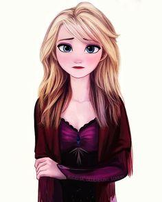 Frozen Film, Frozen Art, Frozen Elsa And Anna, Disney Princess Frozen, Disney Princess Drawings, Sailor Princess, Modern Disney Characters, Frozen Pictures, Disney Crossovers