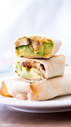 This is a sponsored post written by me on behalf of Mission®. These easy Baked Avocado Chicken Burritos are made with Mission Gluten Free Tortillas, chicken, avocados, cheese, sour Easy Chicken Pot Pie, Easy Chicken Recipes, Baked Chicken, Keto Chicken, Coconut Recipes, Avocado Recipes, Baked Avocado, Avocado Chicken, Tortillas