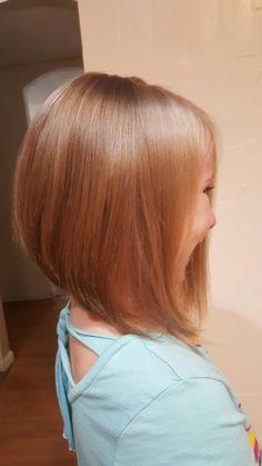 Hair by kym  Little girl lob haircut                              …