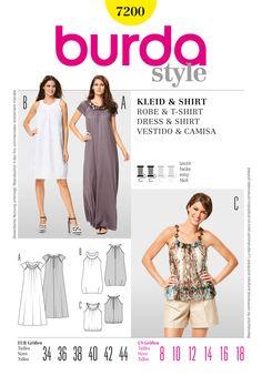 Simplicity Creative Group - Burda Style Dress & T-Shirt  I like the shirt on this one.