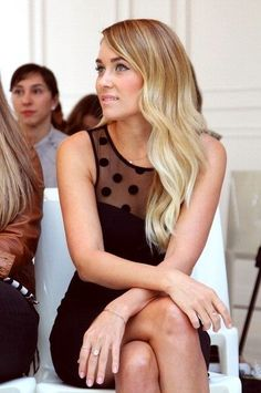 Lauren Conrad fashion. Love the dress.