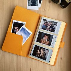 Instax Mini album for 120 photos of your sweet memories. The Mini album is the perfect way to keep all your captured moments organised.  - Album is available in Orange colour. - Album size: 115 x 200 x 20 mm.