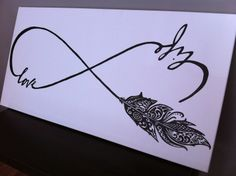 Love life. #feather #infinity #canvas
