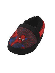 deed947ec48 Marvel Superhero Spider-Man Boys Aline Slippers (Black Red) Toddler Little  Kid Youth Child