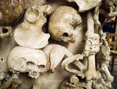 Tomb embellished with bones in Canterbury Cathedral. Morbid Anatomy: Macabre Canterbury Cathedral