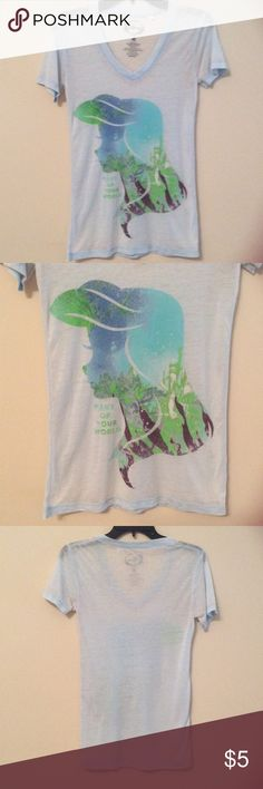 "Disney ""Part of Your World"" Tee Good condition:) Will require a tank top underneath Disney Tops Tees - Short Sleeve"