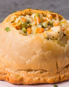 Chicken Pot Pie Domes Recipe by Tasty
