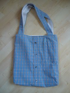 fraukmacht.blogspot.de:hemdtasche Reusable Tote Bags, Sewing, Blouse, Fashion, Moda, Dressmaking, Couture, Fashion Styles, Stitching