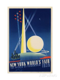 World's Fair: Poster for New York World's Fair 1939, National Museum of American History Giclee-vedos AllPosters.fi-sivustossa