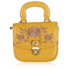 Bryony Handbag ($55) ❤ liked on Polyvore featuring bags, handbags, hand bags, yellow purse, handbags bags, man bag and handbags purses