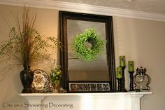love how this mantel is decorated