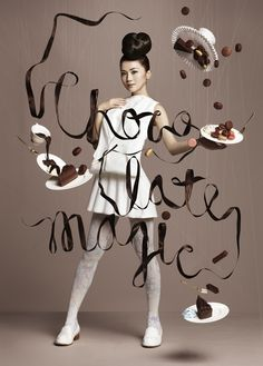 model pose You gotta love it! Japan-based NAM art collective and AllRightsReserved created these wonderful photos of falling chocolate confections to promote Chocolate Trail a cancer charity campaign at the Harbour City mall in Hong Kong Creative Advertising, Advertising Design, Charlene Choi, Gillian Chung, Chocolate Photos, Art Photography, Fashion Photography, No Photoshop, Fashion Shoot