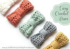 free crochet pattern hair bow