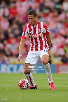 <a gi-track='captionPersonalityLinkClicked' href='/galleries/personality/837737' ng-click='$event.stopPropagation()'>Ibrahim Afellay</a> of Stoke City during the Barclays Premier League match between Stoke City and Liverpool at the Britannia Stadium on August 09, 2015 in Stoke, England.